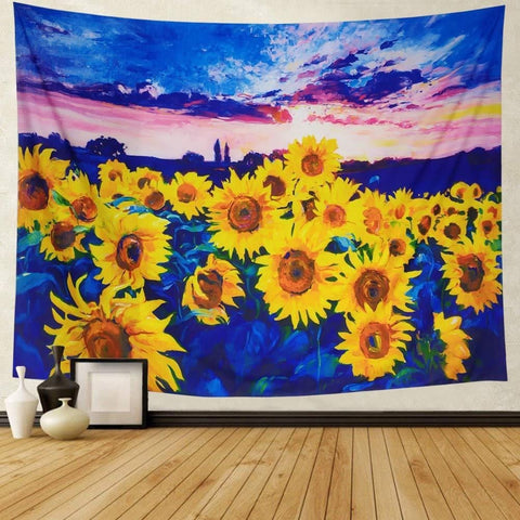 sunflower-tapestry-wall-hanging