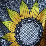 Black Sunflower Wall Tapestry