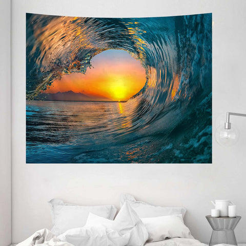sunset-sea-water-ocean-wave-tapestry