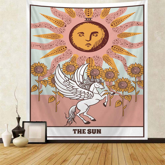 tarot-card-sun-sunflowers-tapestry