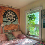XVIII THE MOON Tarot Wall Tapestry