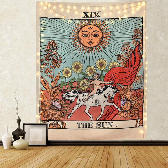 XIX THE SUN Tarot Wall Tapestry
