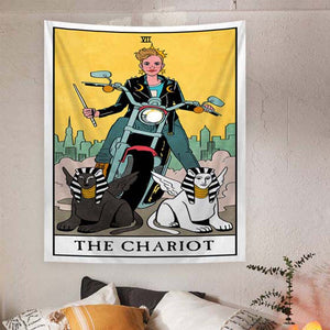 The Chariot Tarot Tapestry