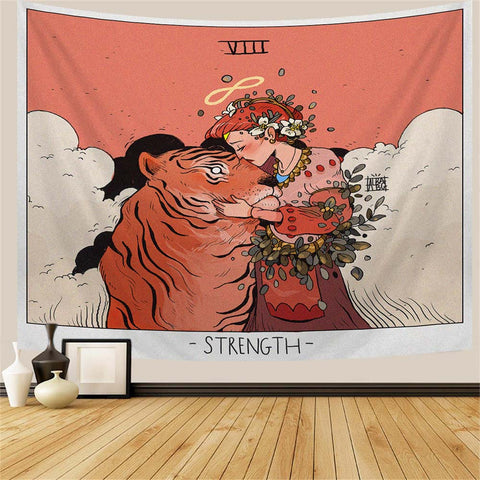 the-strength-tarot-tapestry-girl-and-tiger
