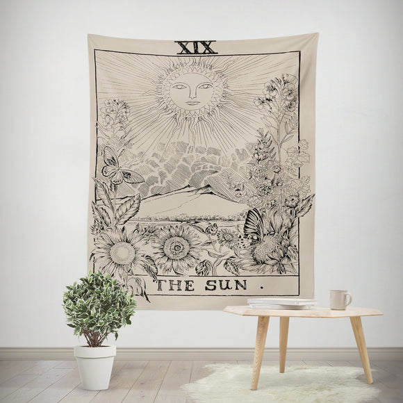 The Sun Tarot Wall Tapestry