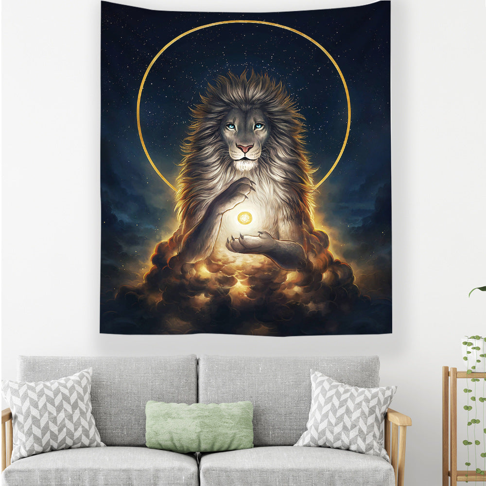 the-total-lunar-eclipse-in-lion-wall-tapestry