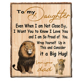 To My Daughter Blanket From Dad
