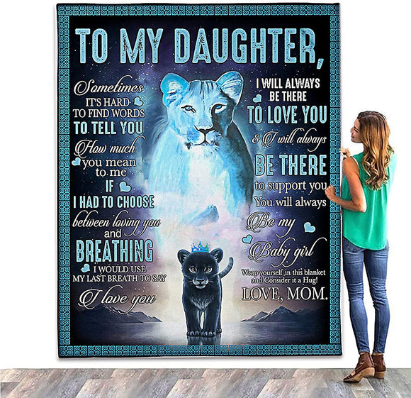 To My Daughter Blanket From Mom
