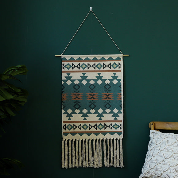 Tribe Tassel Tapestry Wall Hanging