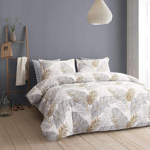 Tropical Gold Leaf Duvet Cover Set