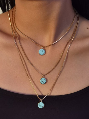 turquoise-layered-necklace-pendant-choker