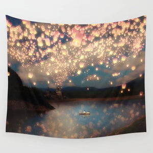under-a-wish-lanterns-sky--wedding-day-tapestries