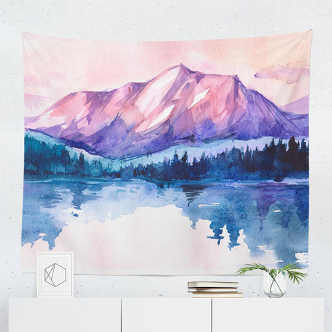 watercolor-mountains-tapestry