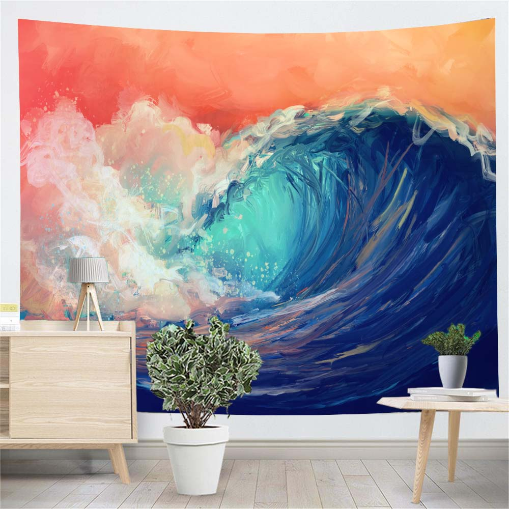 wave-oil-painting-wall-tapestry-