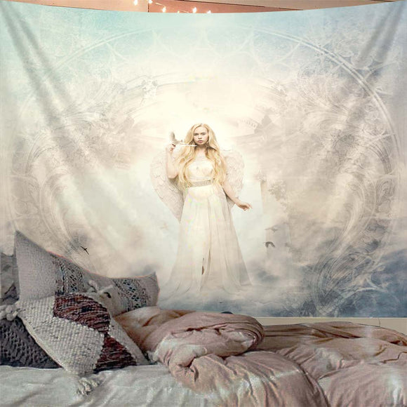 white-angel-tapestry
