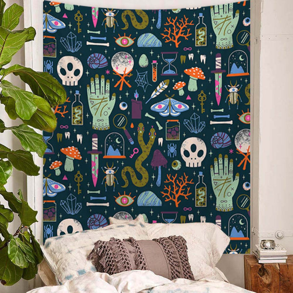 Witchcraft Snake Moth Tapestry