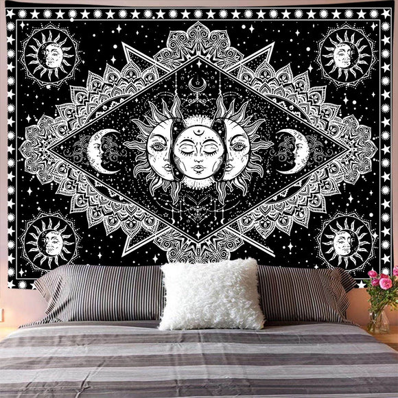 Witchcraft Sun Moon Tapestry