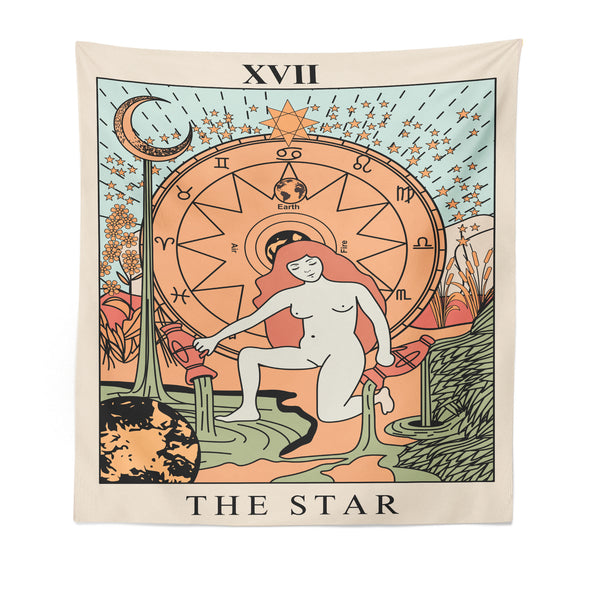 xvii-the-star-goddess-wall-tapestry