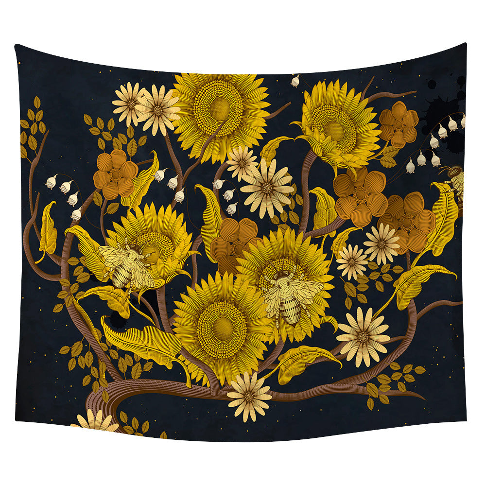 Yellow Sunflower Wall Tapestry 08