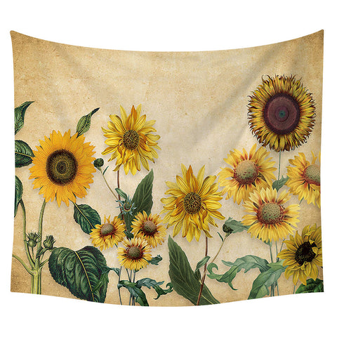 Yellow Sunflower Wall Tapestry 09