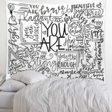 you-are-enough-quote-tapestry