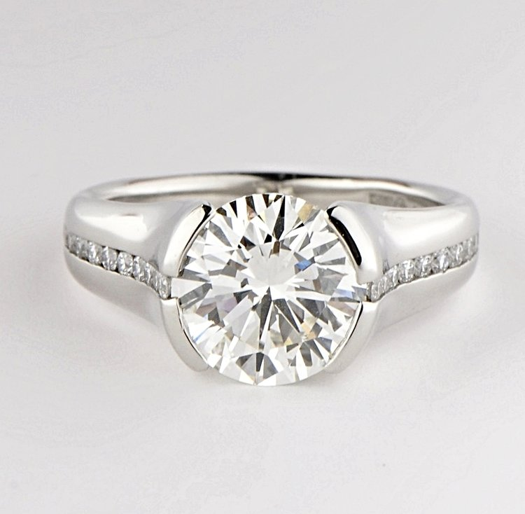 nodeform moissanite by rings rose engagement modified half cut products solitaire tension dsc bezel gray ring princess gold