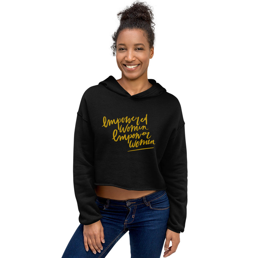 Empowered Women Crop Hoodie