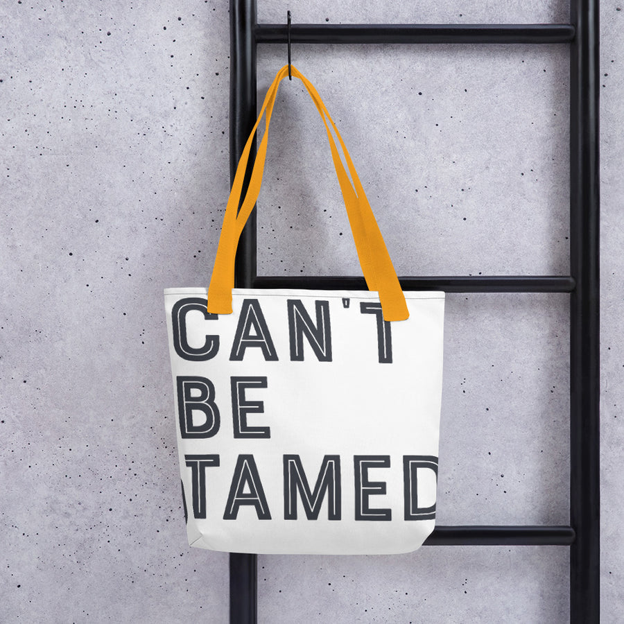 Can't Be Tamed Tote bag
