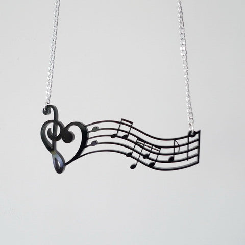 Romantic Music Note Pendant Necklace