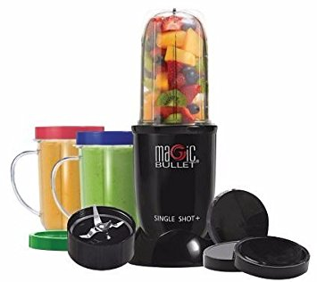 Magic Bullet SINGLE SHOT HI-SPEED BLENDER/MIXER SYSTEM 12 PIECES SMOOTHIES COCKTAILS