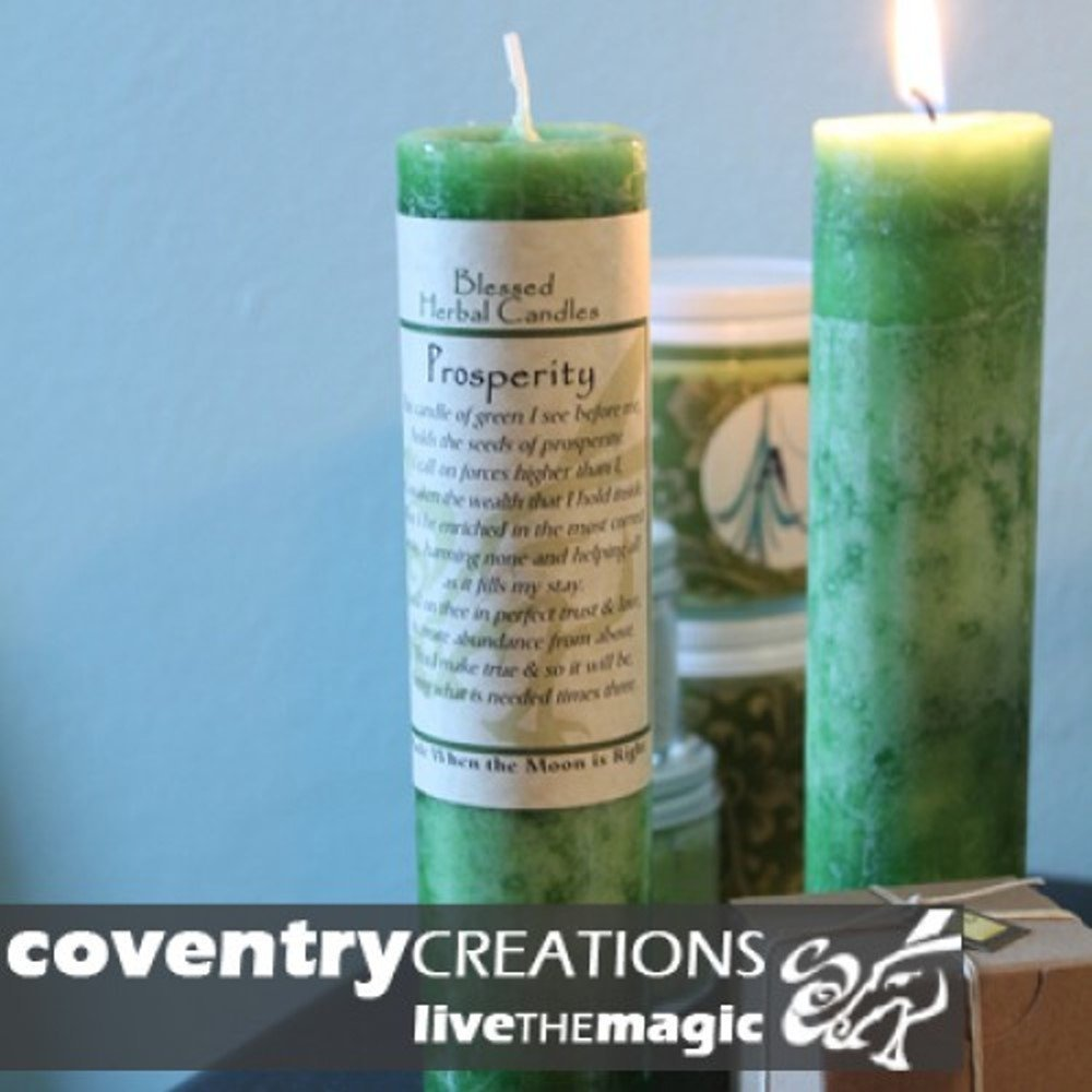 Coventry Creations Prosperity Blessed Herbal Candle