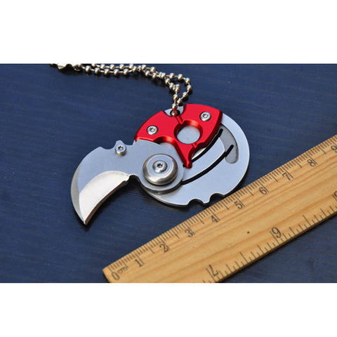 Folding Coin Knife Key Chain