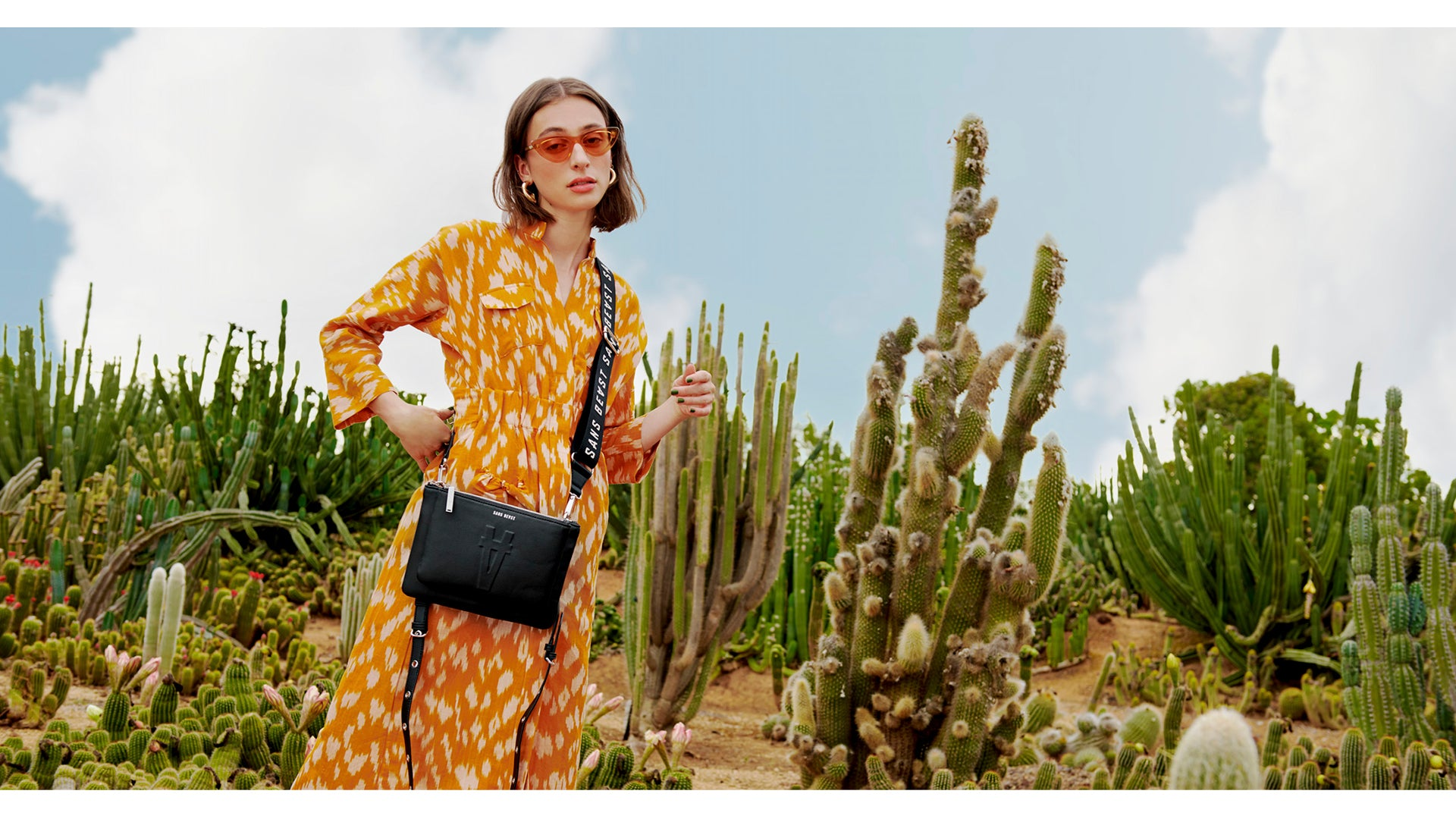 Composition of imagery showing our vegan handbags made from Desserto Pelle Cactus Leather.