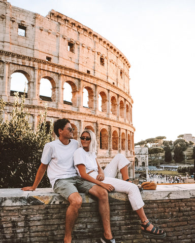 Karissa and Tom at the Colosseum, Rome