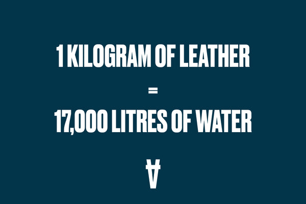 1 kilogram of leather equals 17,000 litres of water.