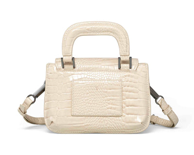 Sans Beast Vanilla Patent Croco Reader Satchel Back View