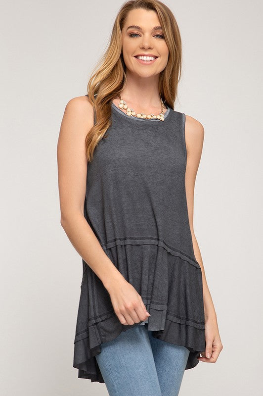 Sleeveless Swing Tunic - Blush Boutique
