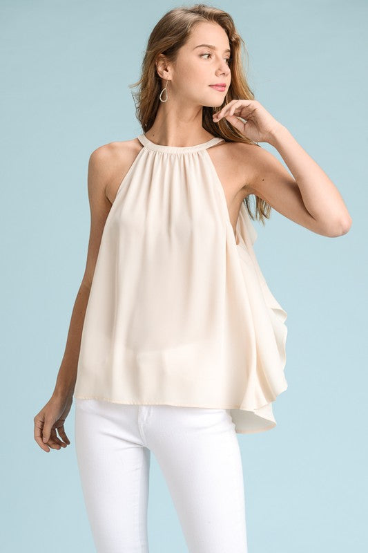 Ruffle Back Top - Blush Boutique