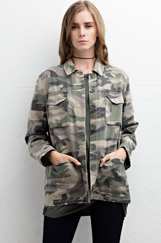 Camo Jacket - Blush Boutique