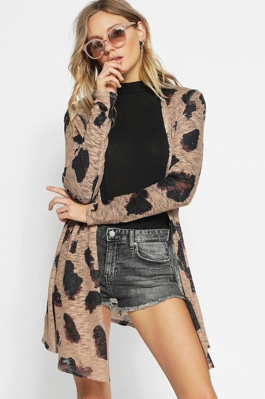 Leopard Print Cardigan - Blush Boutique