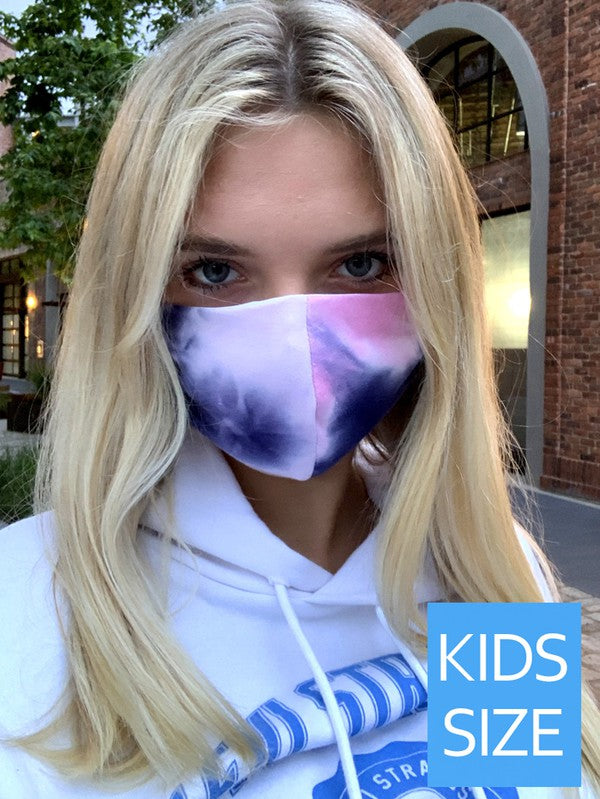 Girls Tie Dye Mask-Pink & Purple - Blush Boutique