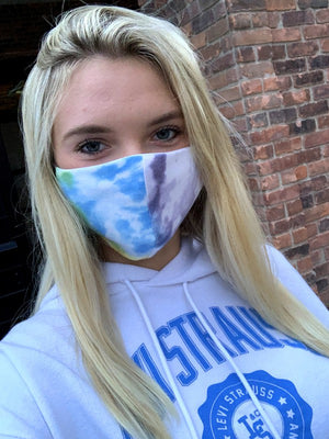 Tie Dye Mask-Multicolored - Blush Boutique