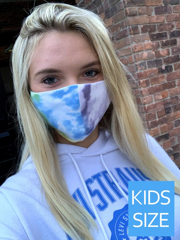 Girls Tie Dye Mask-Multicolored - Blush Boutique