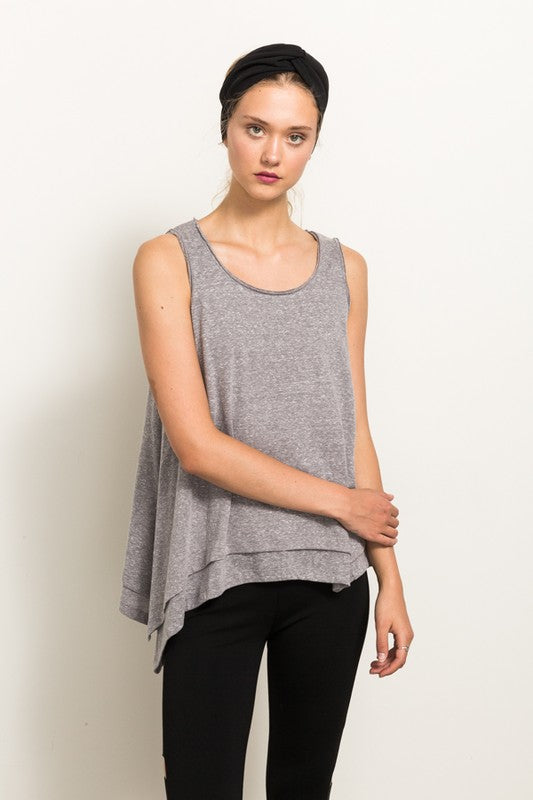 Sleeveless Layered Top - Blush Boutique