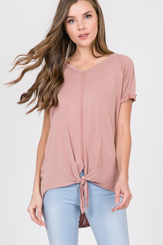 Tie-Front Tunic - Blush Boutique