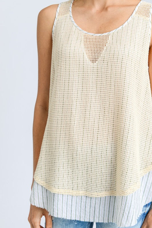 Fish Net Tank - Blush Boutique