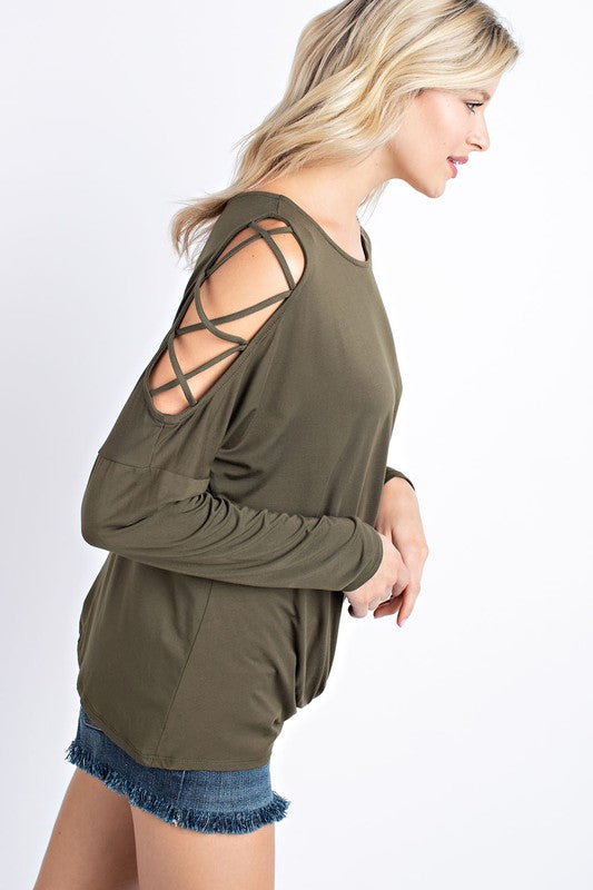 Open Sleeve Top - Blush Boutique