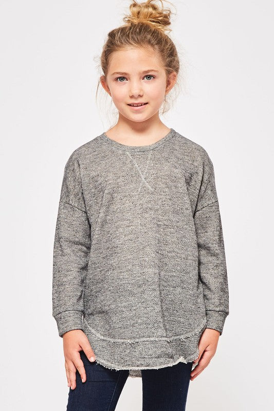 Girls French Terry Pullover - Blush Boutique