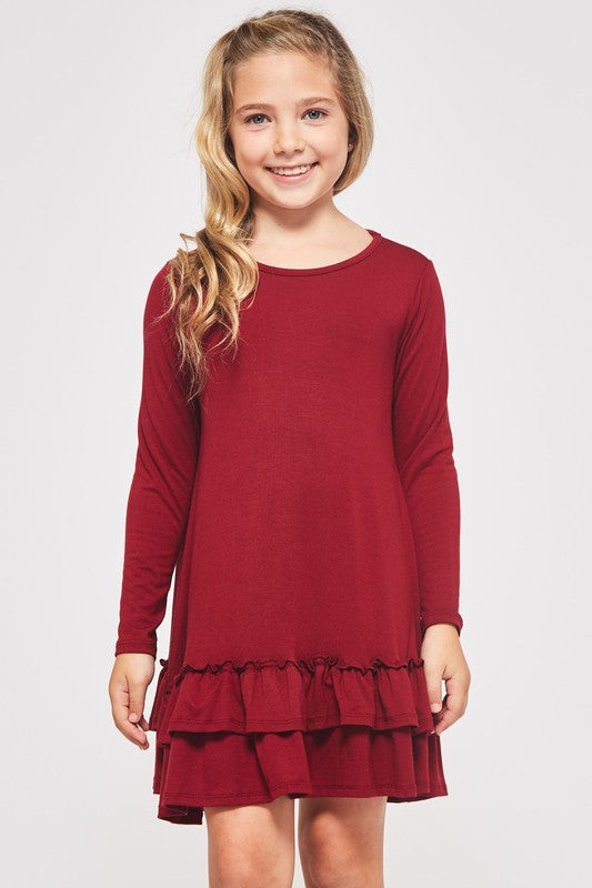 Girls Tiered Ruffle Dress - Blush Boutique