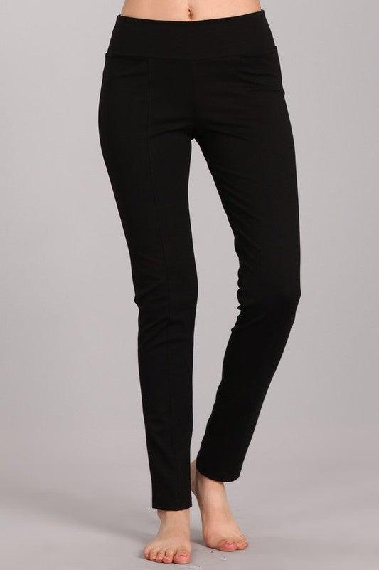 Slim Fit Ponte Pants - Blush Boutique